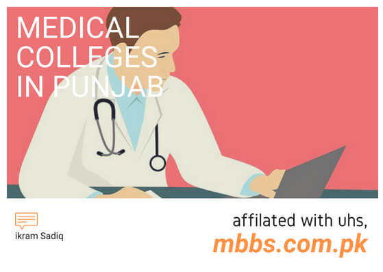 List of Medical Colleges in Punjab (Affiliated With UHS